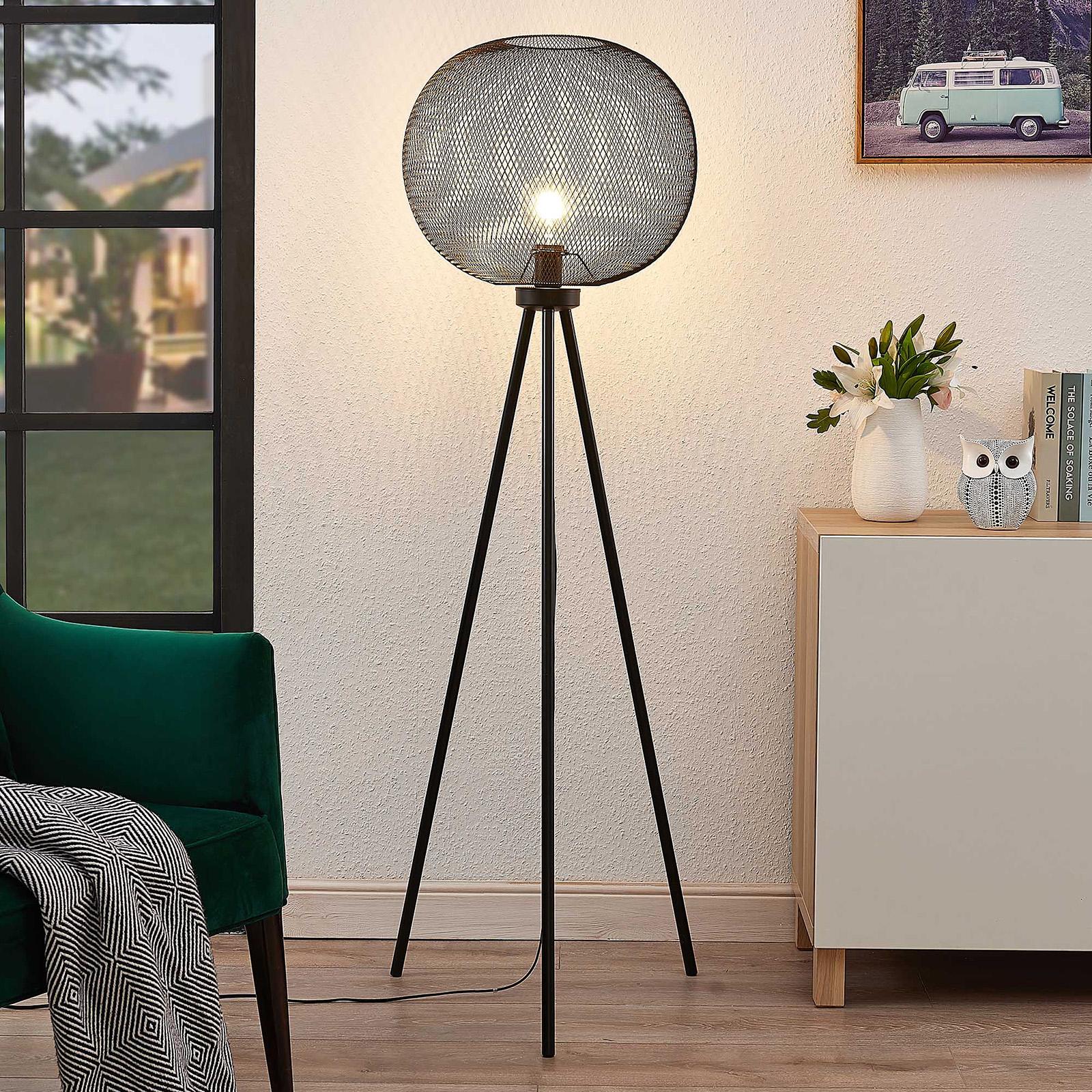 Lindby Wilga vloerlamp met driepoots frame