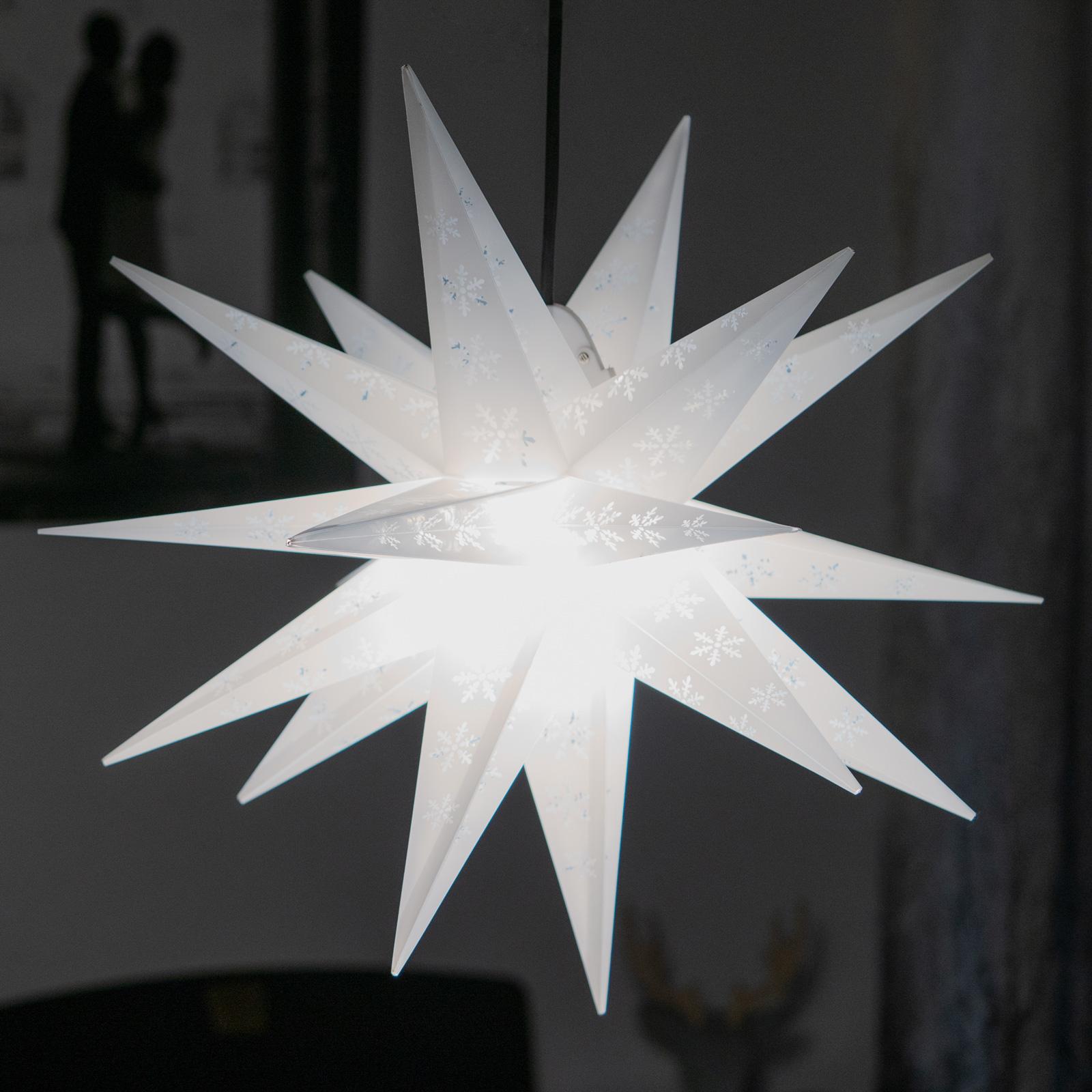 Stella fiocchi di neve, 18 punte, punzonata