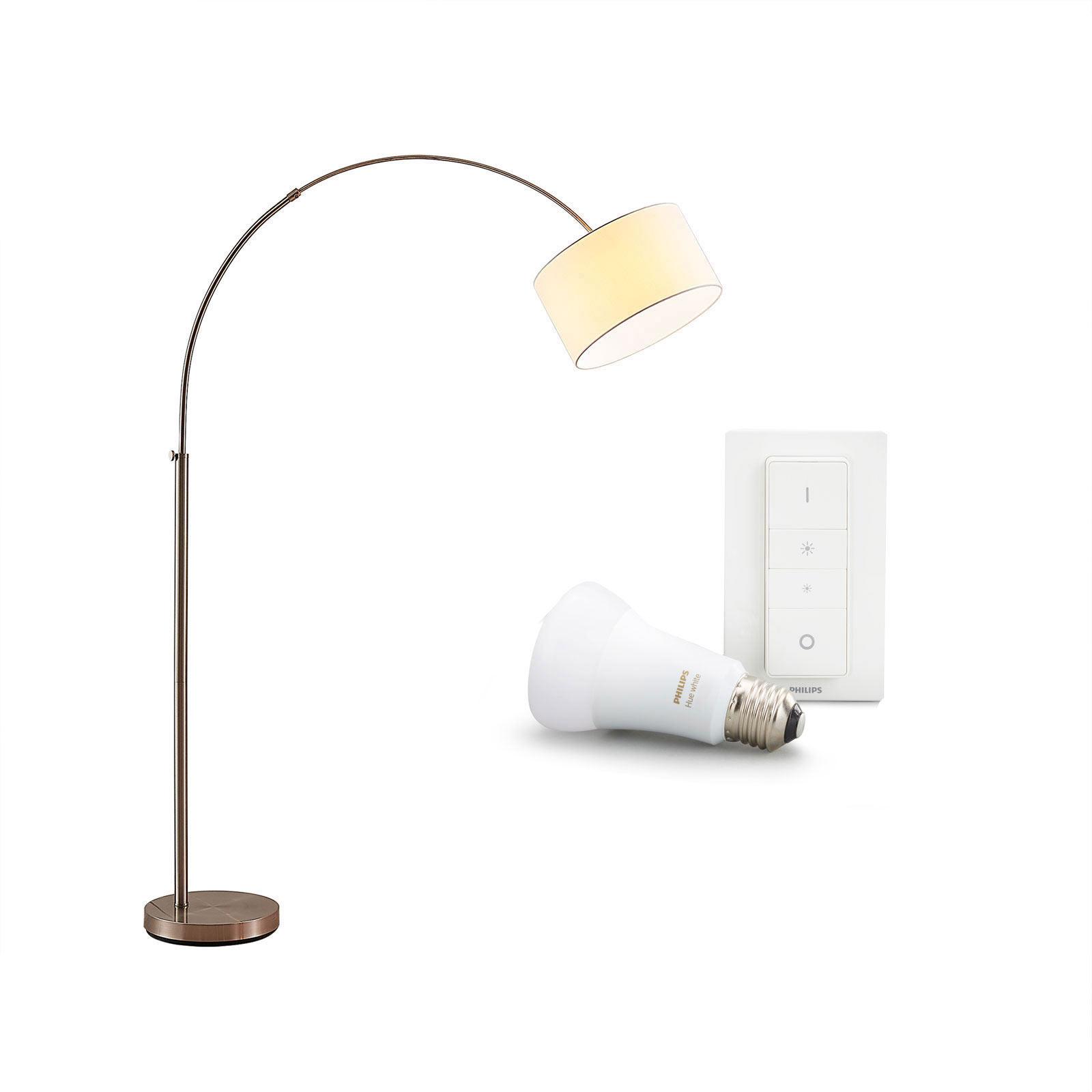 Stehlampe Railyn mit Philips Hue E27 und Dimmer