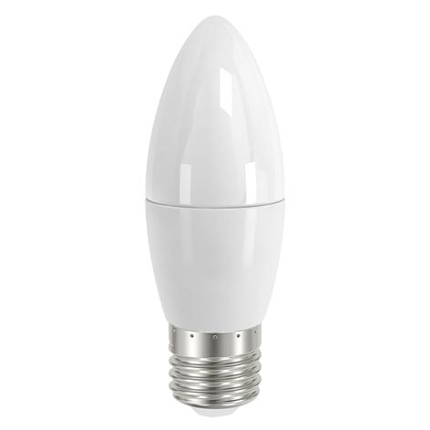 E27 5,5W 827 LED sviečková žiarovka, satinovaná
