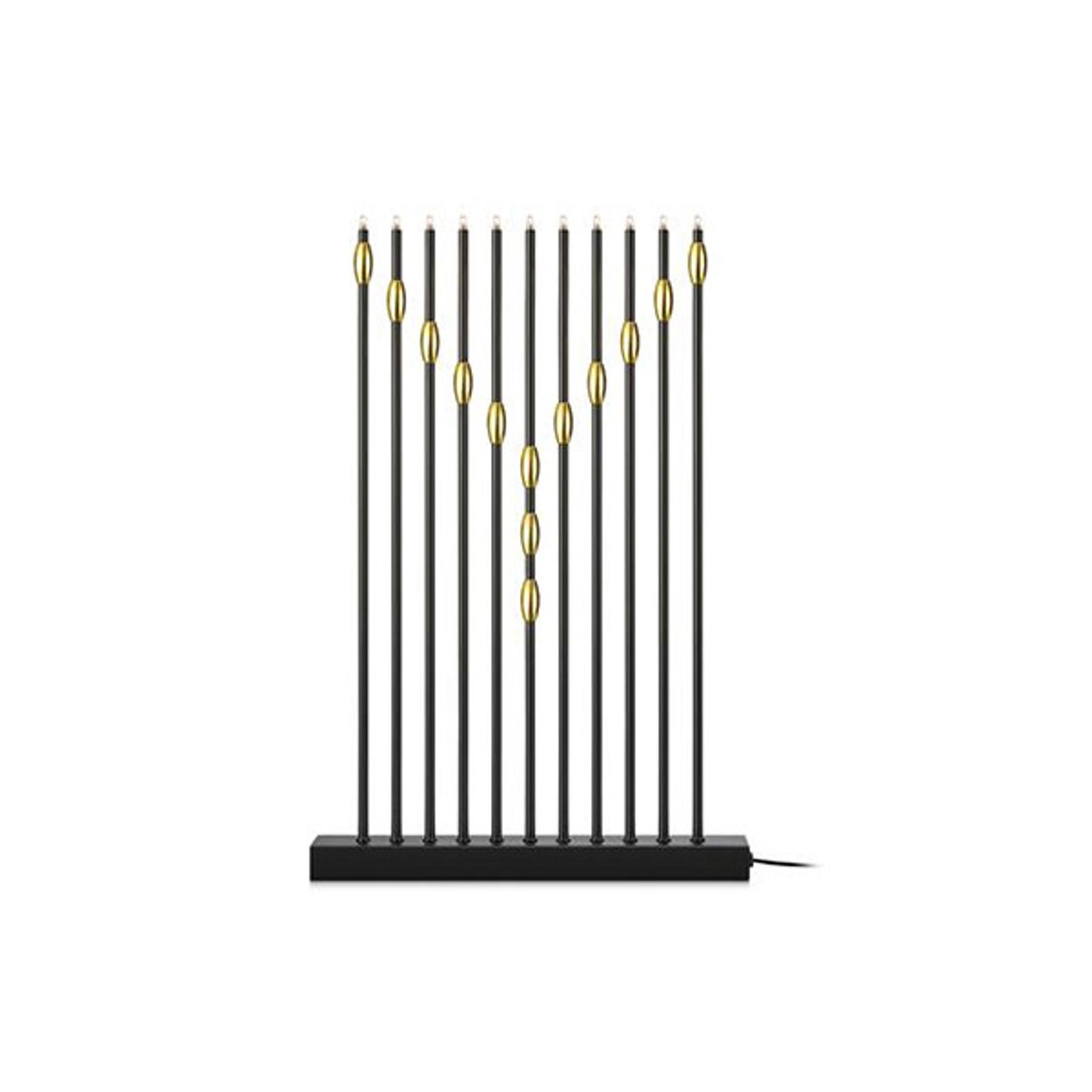 Kynttelikkö Necklace 11-lamppuinen, musta