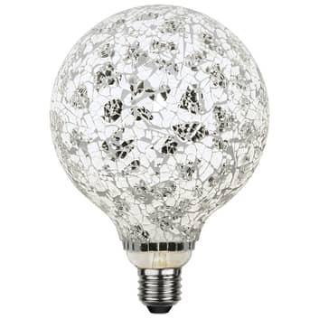 Globe LED G130 E27 4W Mosaic noir/argenté 4000K