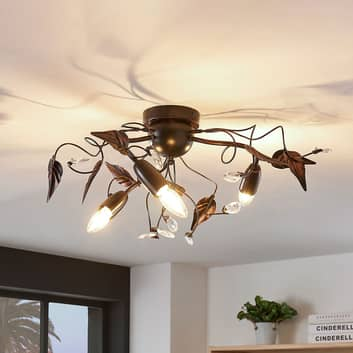Plafondlamp Marlitt, gebogen armen, 3-lamps