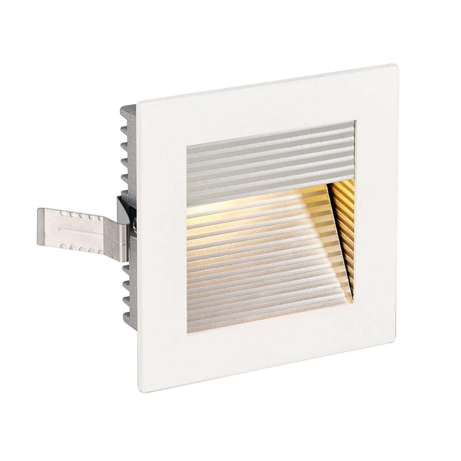 SLV lampa ścienna wpuszczana Flat Frame QT9 biała