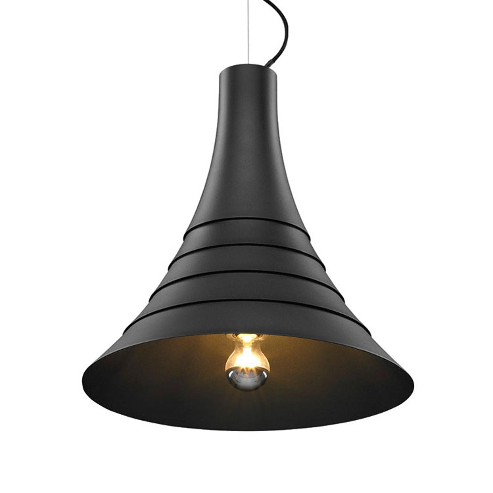 SLV Bato 45 lampa wisząca E27 czarna Ø45cm