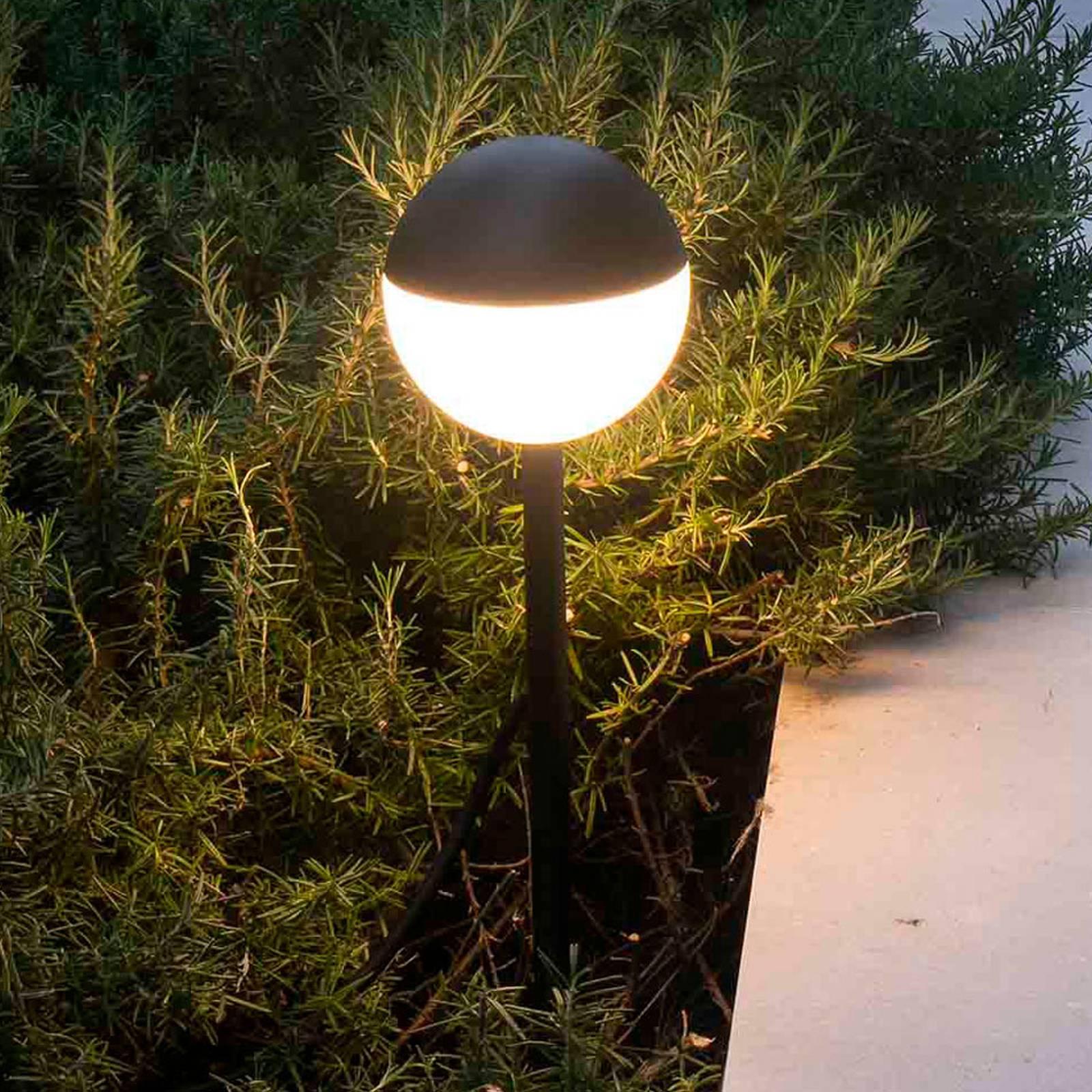 LED-Wegeleuchte Piccola mit Erdspieß in Schwarz