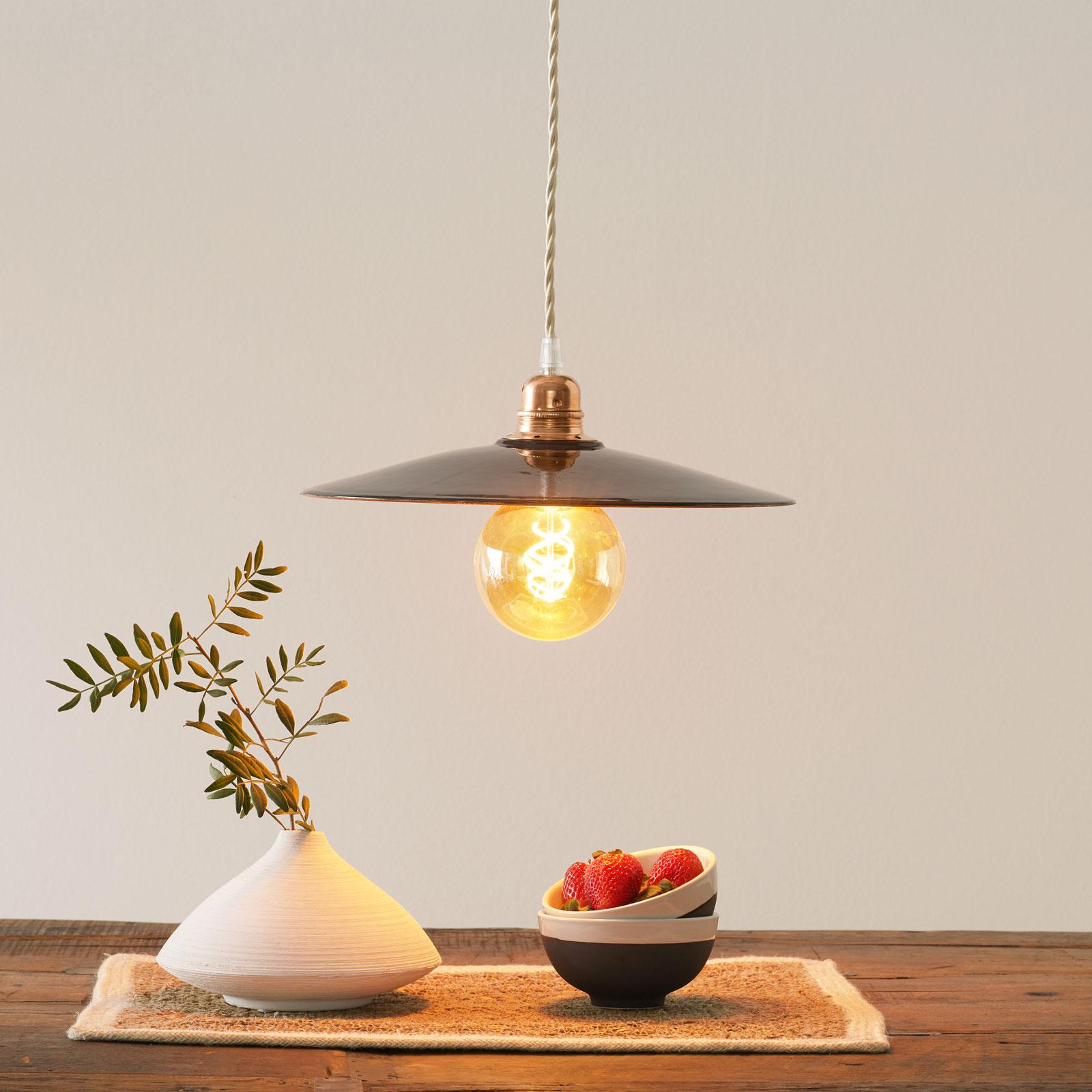 Ceramiczna lampa wisząca S1836, czarna/miedziana