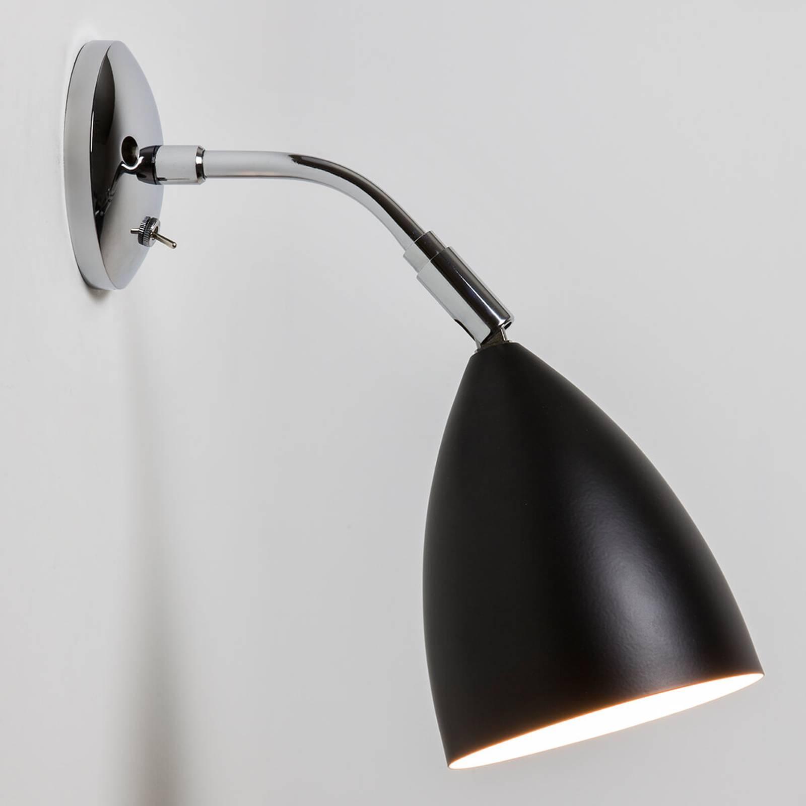 Applique flexible Joel Wall en noir chromé