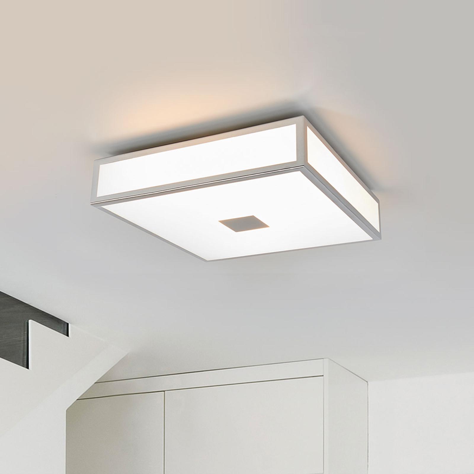 Chromowana łazienkowa lampa sufitowa Eniola