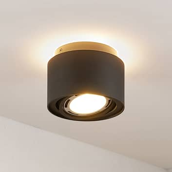 Arcchio Talima LED-taklampa, rund, svart