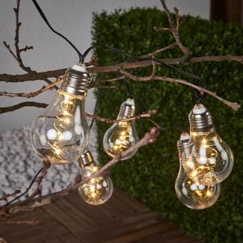 Glow - tira de luces transparente, energía solar