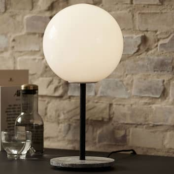 Menu TR Bulb DTW tafellamp 41cm marmer/opaal