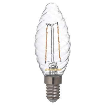 Flamme LED E14 ToLEDo 2,5W 827, torsadée