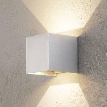 LED-utomhusvägglampa Cube aluminium