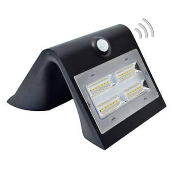 Wave M - Solcells LED-vägglampa med sensor, svart