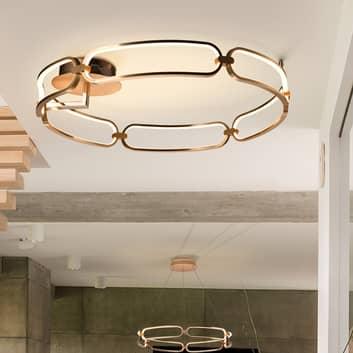 Colette LED-loftlampe, 6 lyskilder, rosaguld