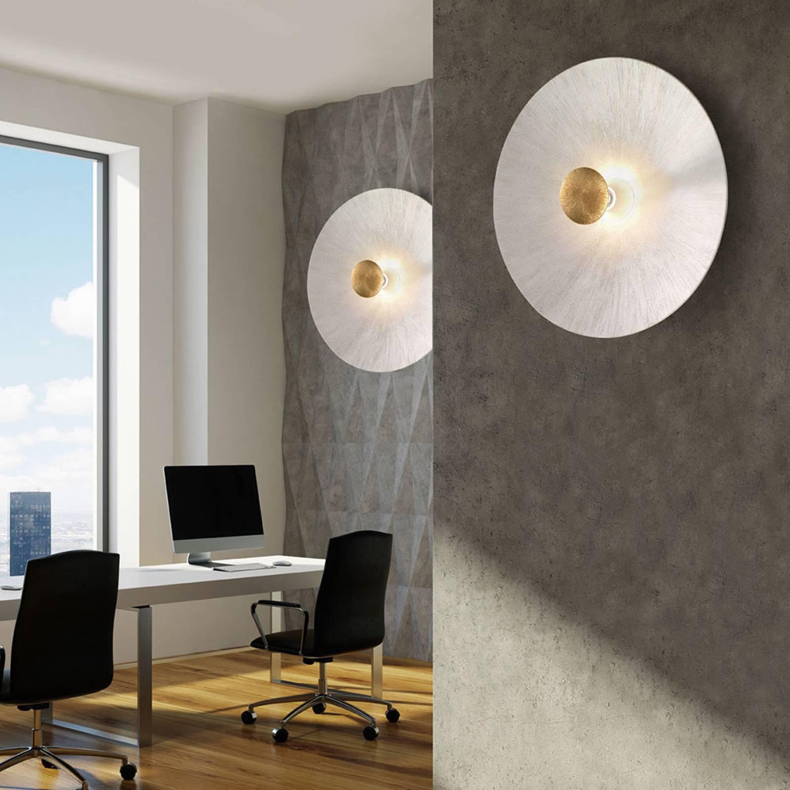 Wandlamp Moon Sun, Ø 54 cm, wit/goud