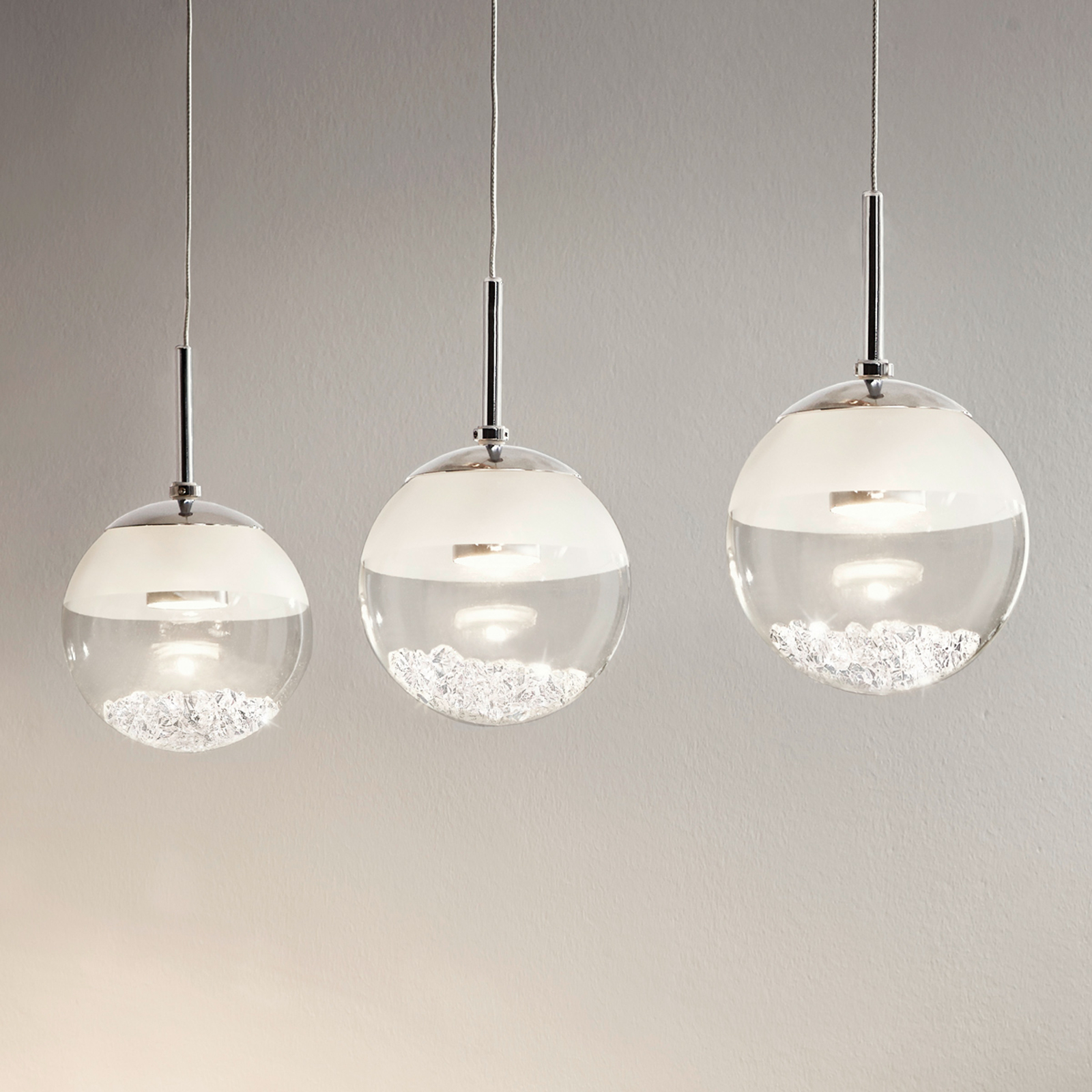 Podlhovasté závesné LED svietidlo Montefio krištáľ_3031617_1