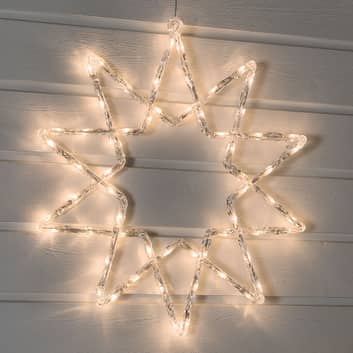 Utendørs LED stjerne med farget lys