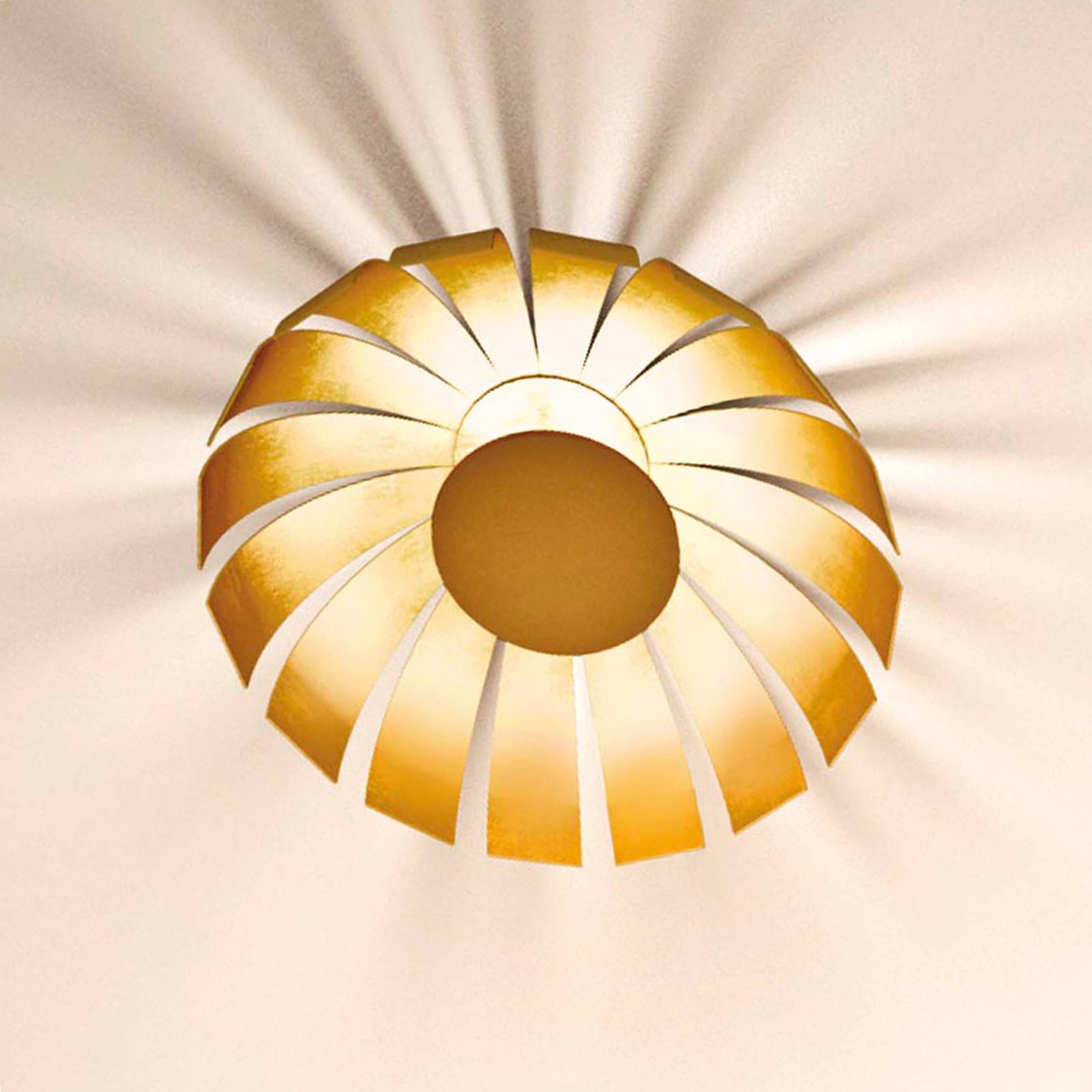 Plafoniera dorata LED di design Loto, 20 cm