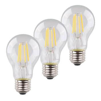 LED žárovka E27 4W 2700K filament sada 3ks 470lm