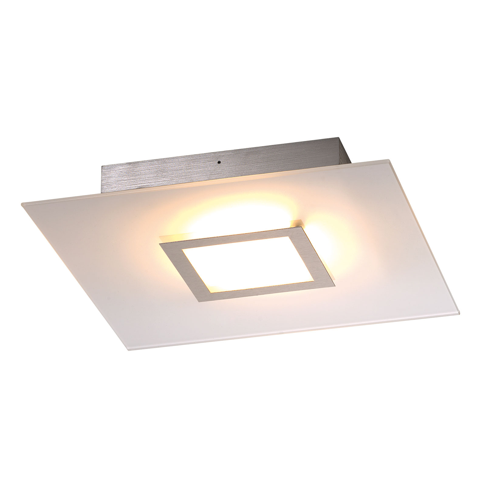 Flat - plafoniera LED quadrata, dimmerabile
