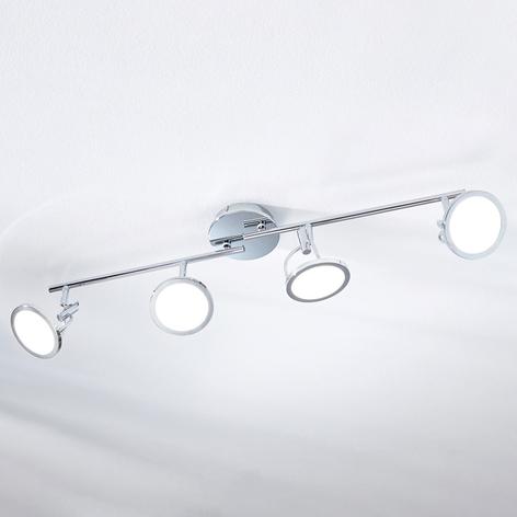 LED-Deckenspot Jorne, verchromt, 4-flammig