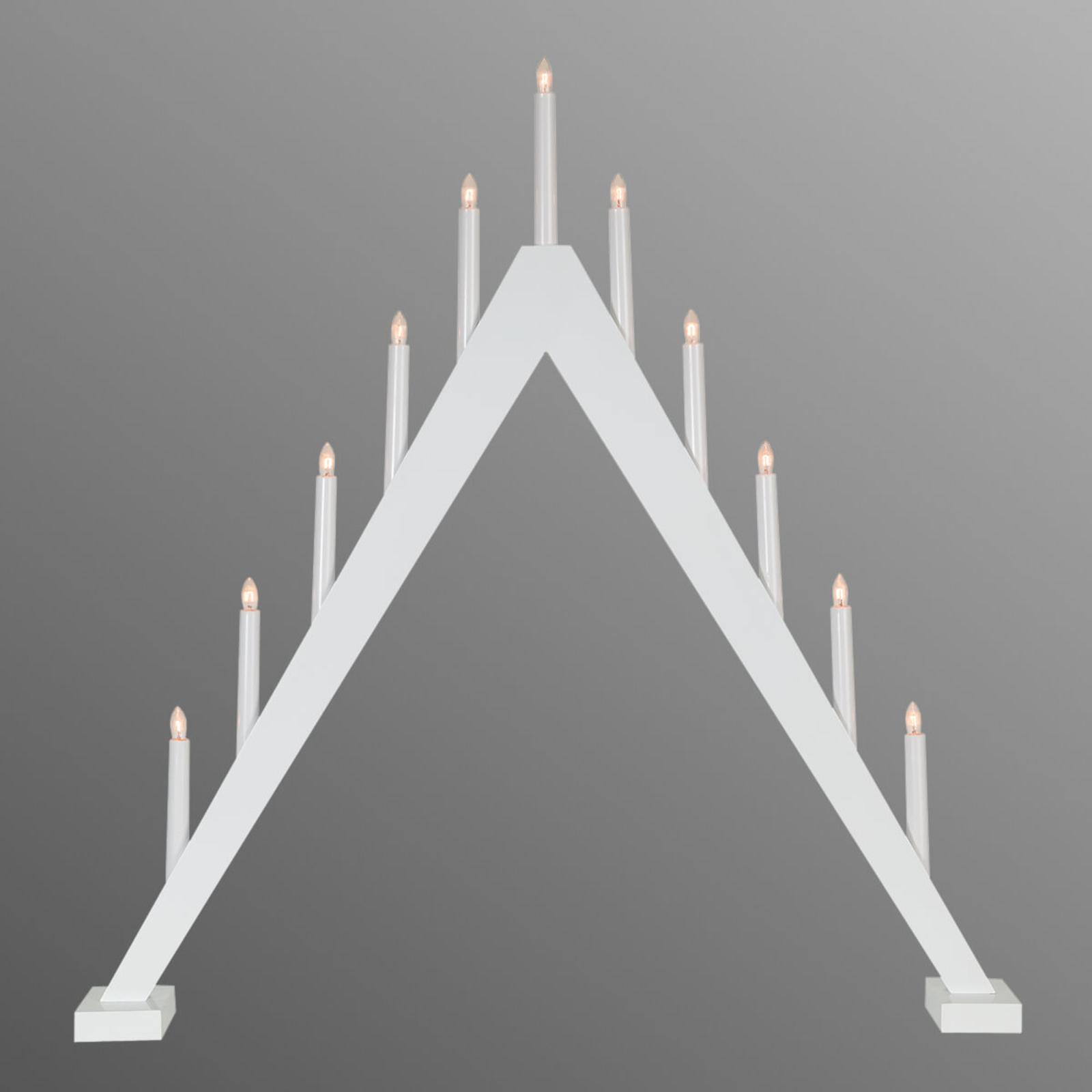 Schlicht gestalteter Kerzenleuchter Trill 11-flg.