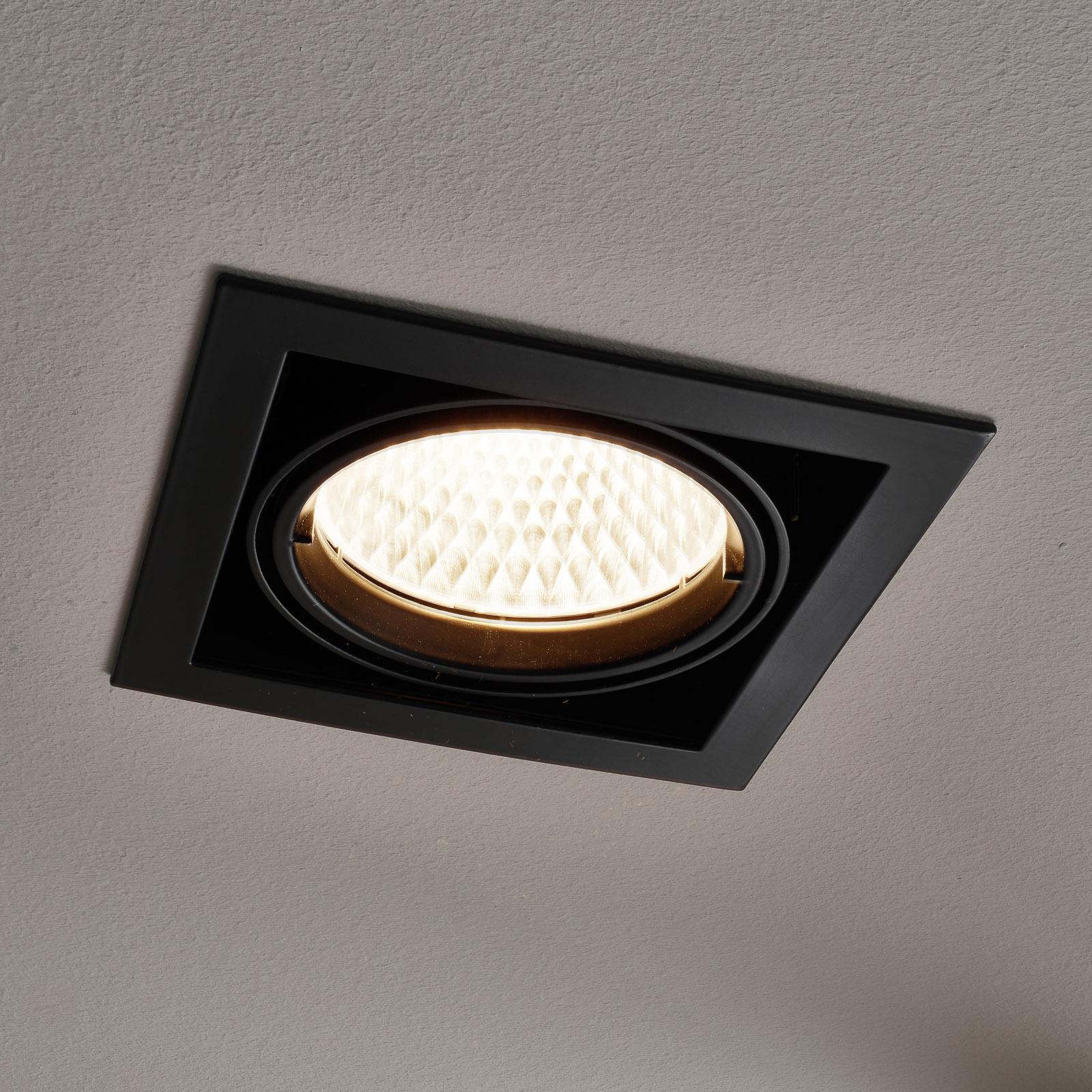 Arcchio Adin LED-Einbaulampe, 3.000K 40,2W schwarz