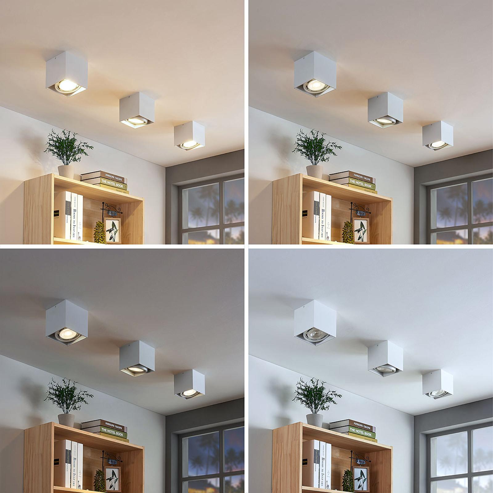 LED-Downlight Rosalie, dimmbar, 1-fl. eckig, weiß