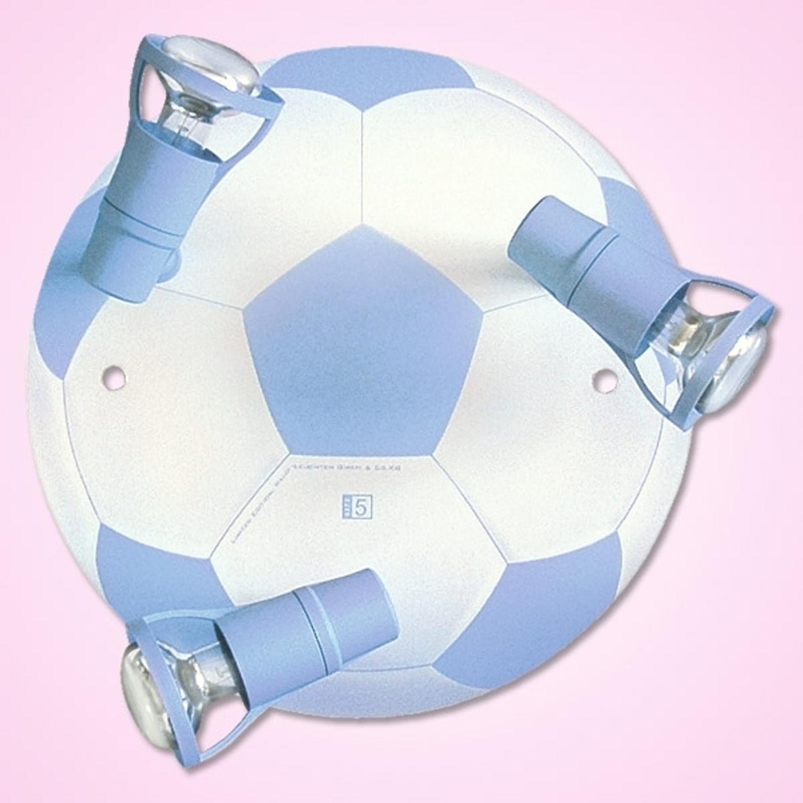 VOETBAL - 3-lichts lichtblauwe plafondlamp