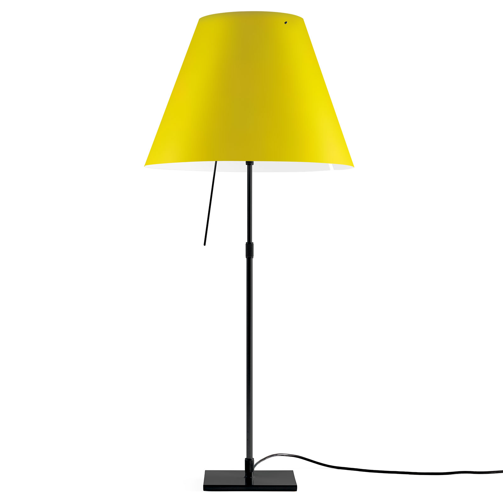 Luceplan Costanza Tischlampe D13 schwarz/gelb