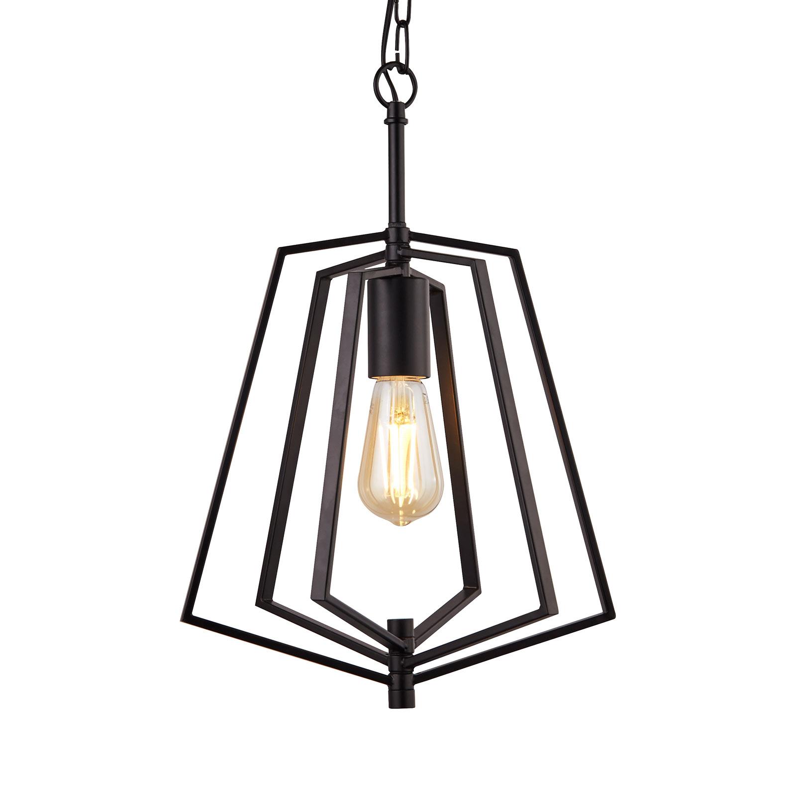 Lampa wisząca Slinky, 1-punktowa, czarna matowa