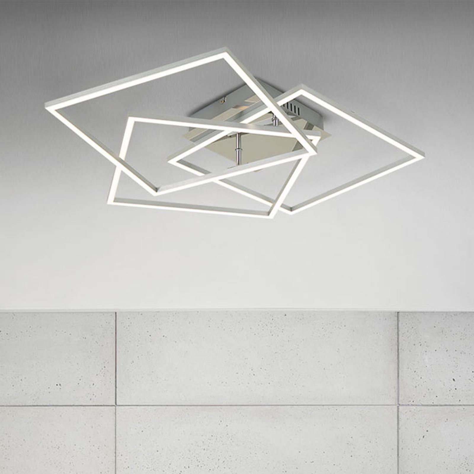 Frame WiFi CCT, Fernbedienung, alu, 57x57 cm