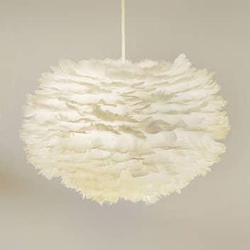 Gåsefjær-pendellampe Eos medium, hvit