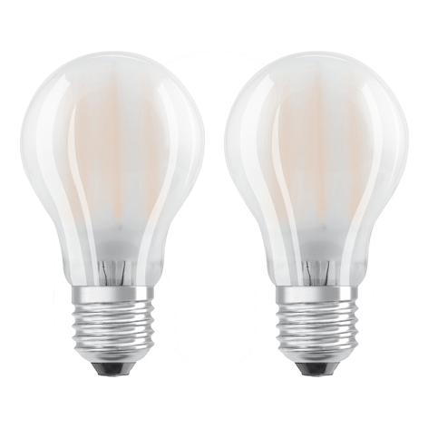 OSRAM LED lamp E27 4W warmwit in 2per set
