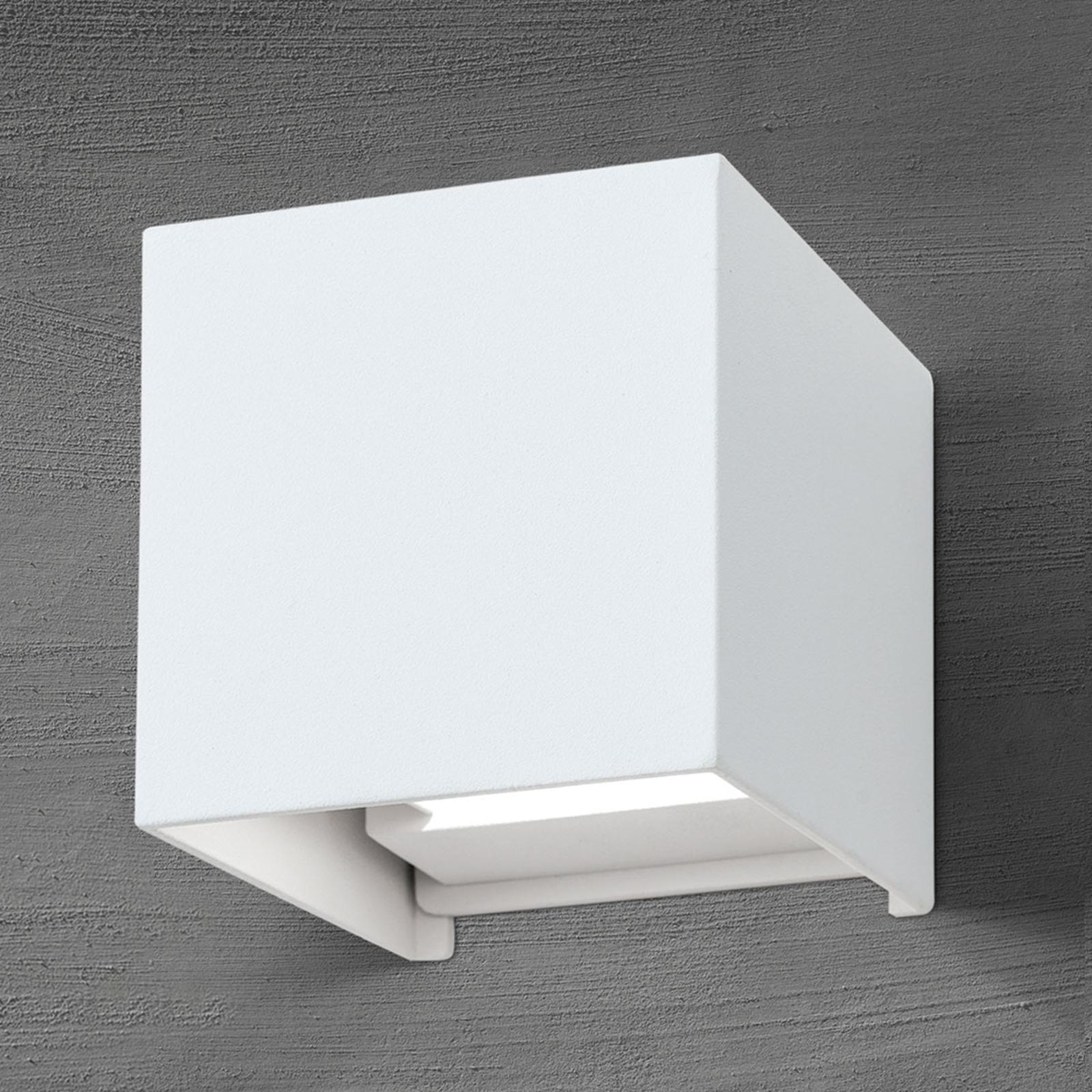 Applique d'extérieur LED cubique Cube blanche