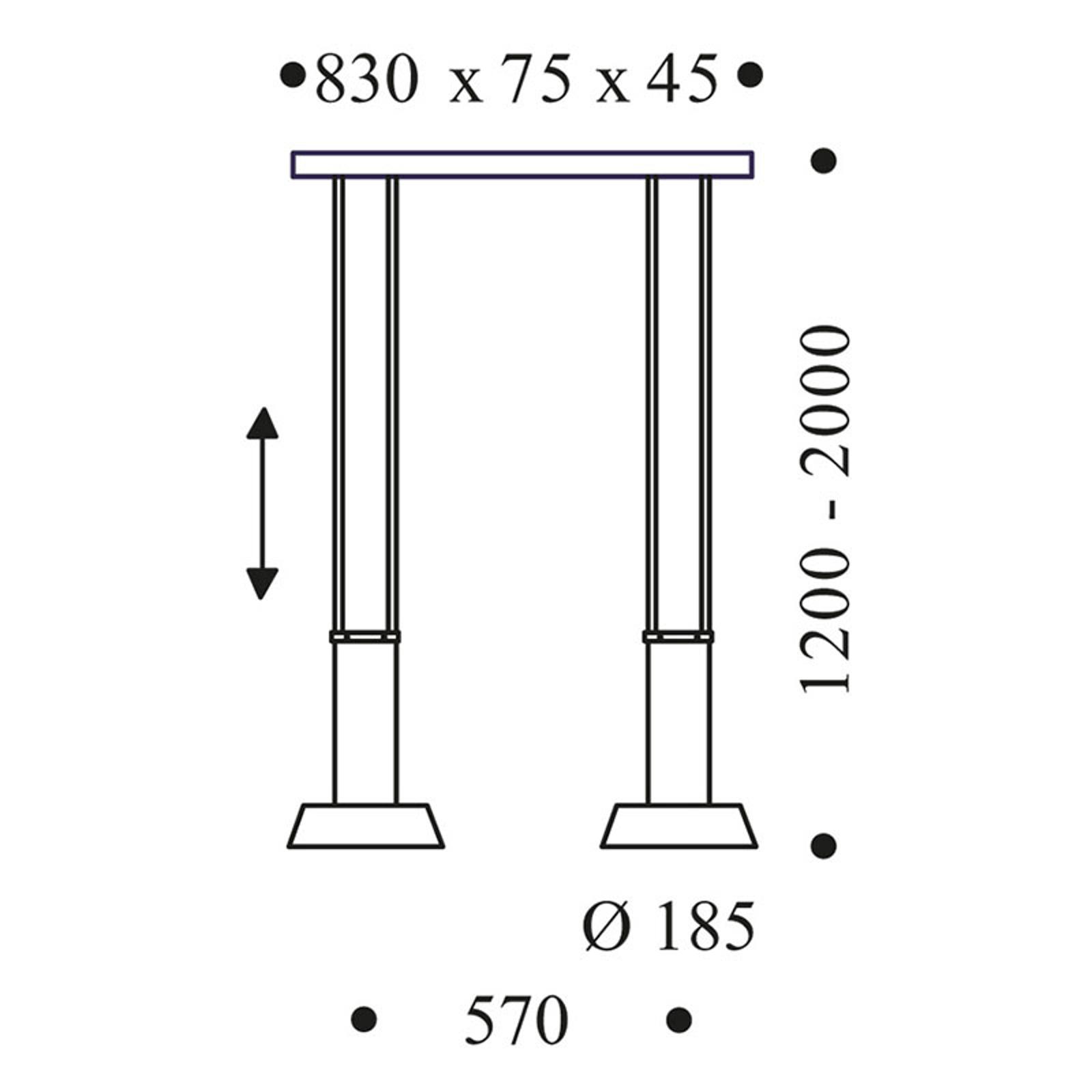 OLIGO Glance lampa wisząca LED 2-pkt. szara matowa