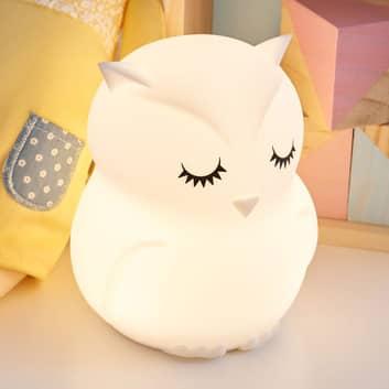 Pauleen Good Night Owl LED nachtlamp kleurverand.