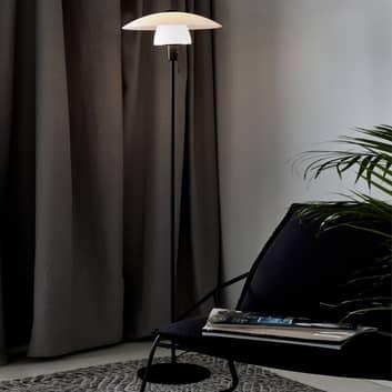 Verona standerlampe, sort stel, opal skærm