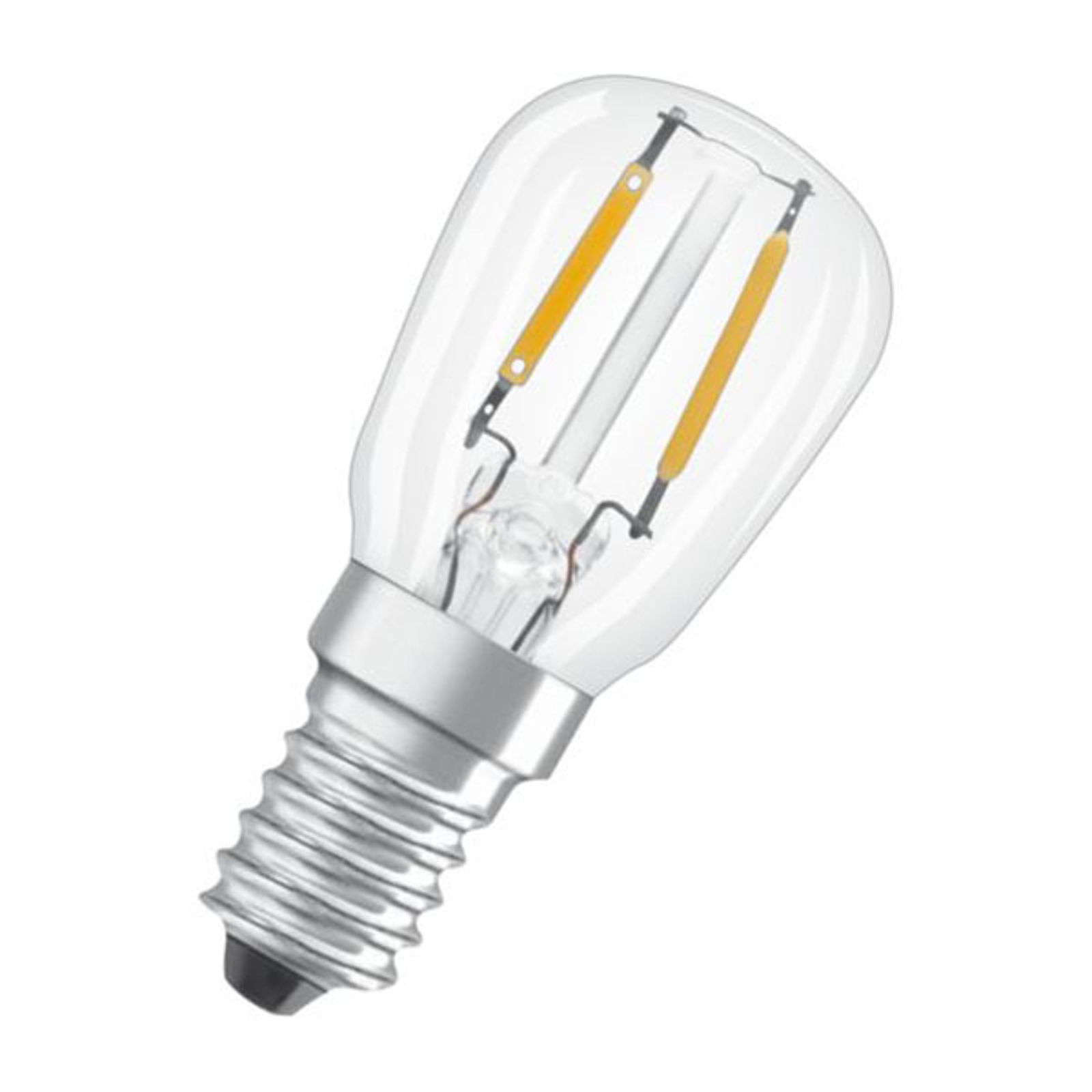 OSRAM LED-Lampe E14 T26 2,2W 2.700K klar 2er-Pack