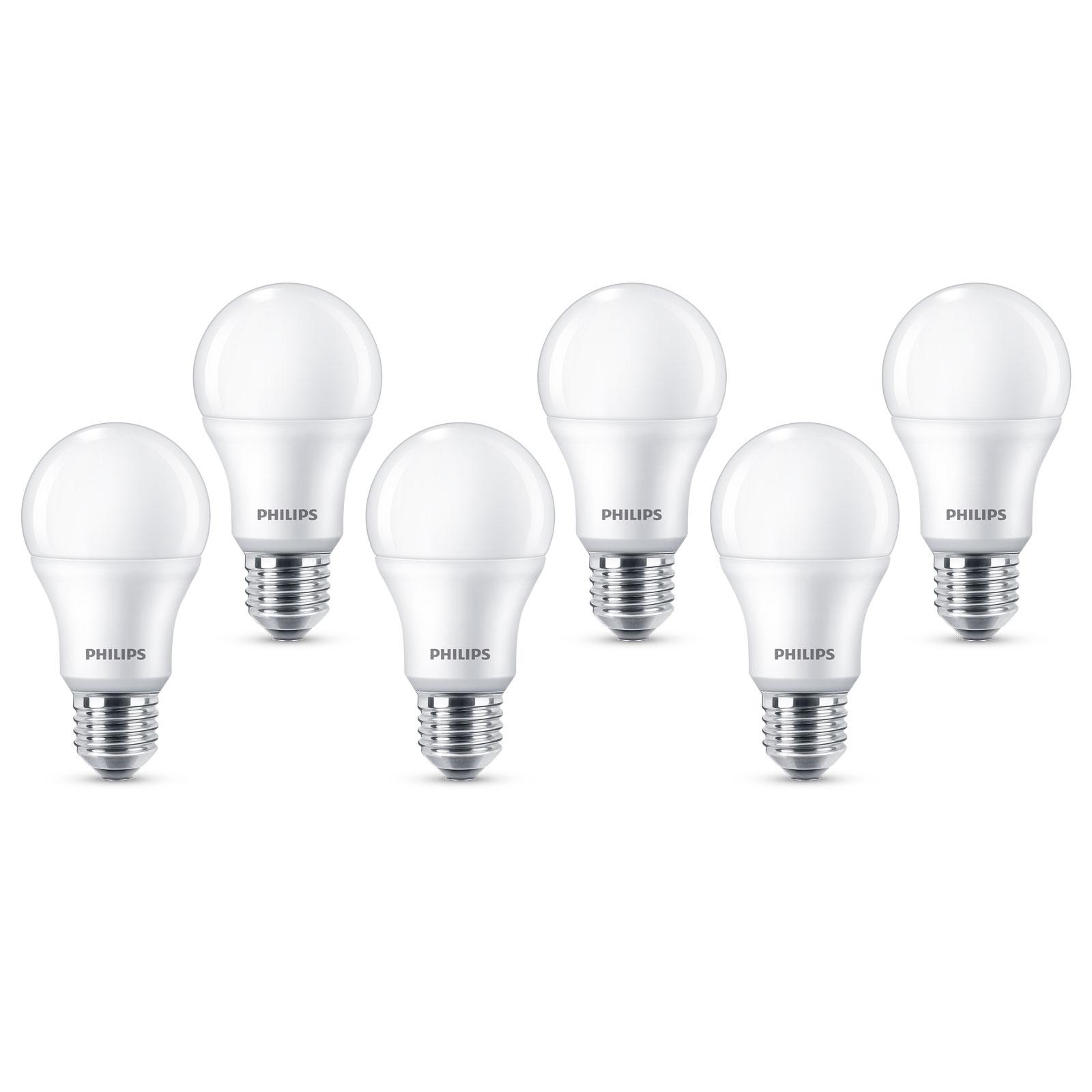 Philips E27 LED-Lampe A60 8W 2.700K matt 6er Pack