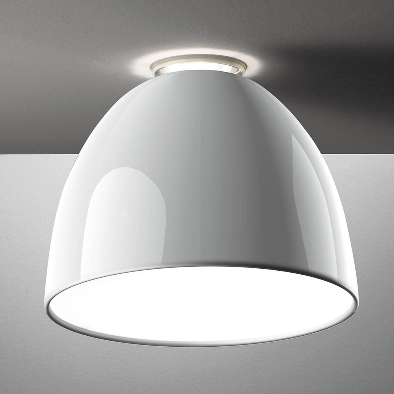 Artemide Nur Mini Gloss -LED-kattovalo, valkoinen