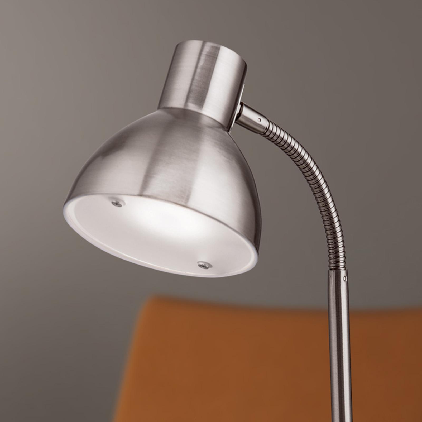 Matnikkelkleurige LED-bureaulamp Isra