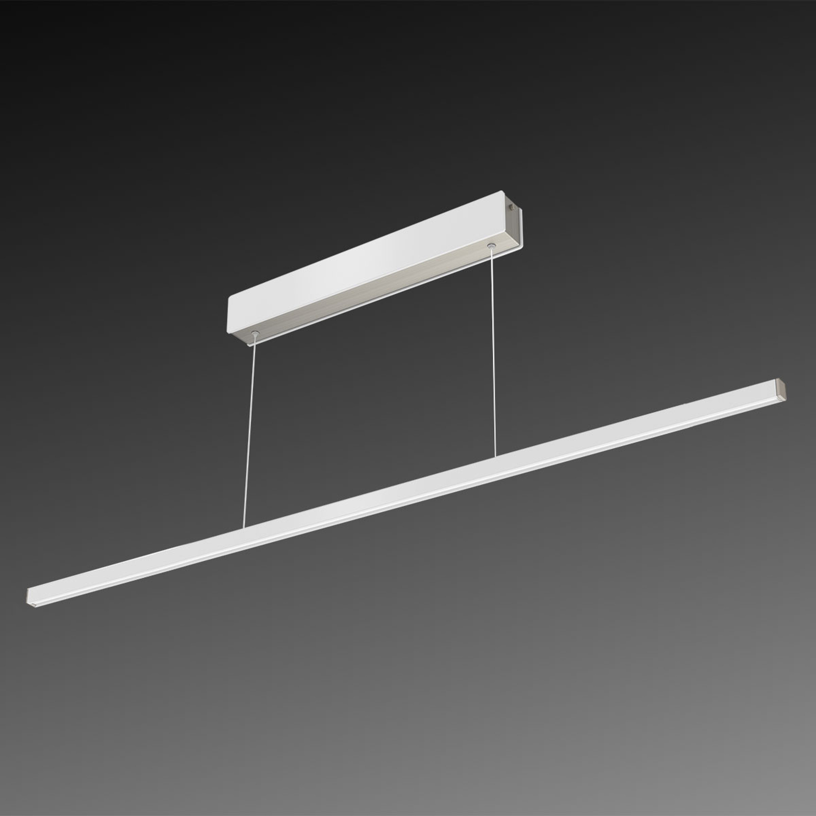 Suspension LED Orix, blanc, 120 cm de long