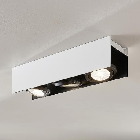 Arcchio Olinka LED stropní světlo, černobílé 3 ž.