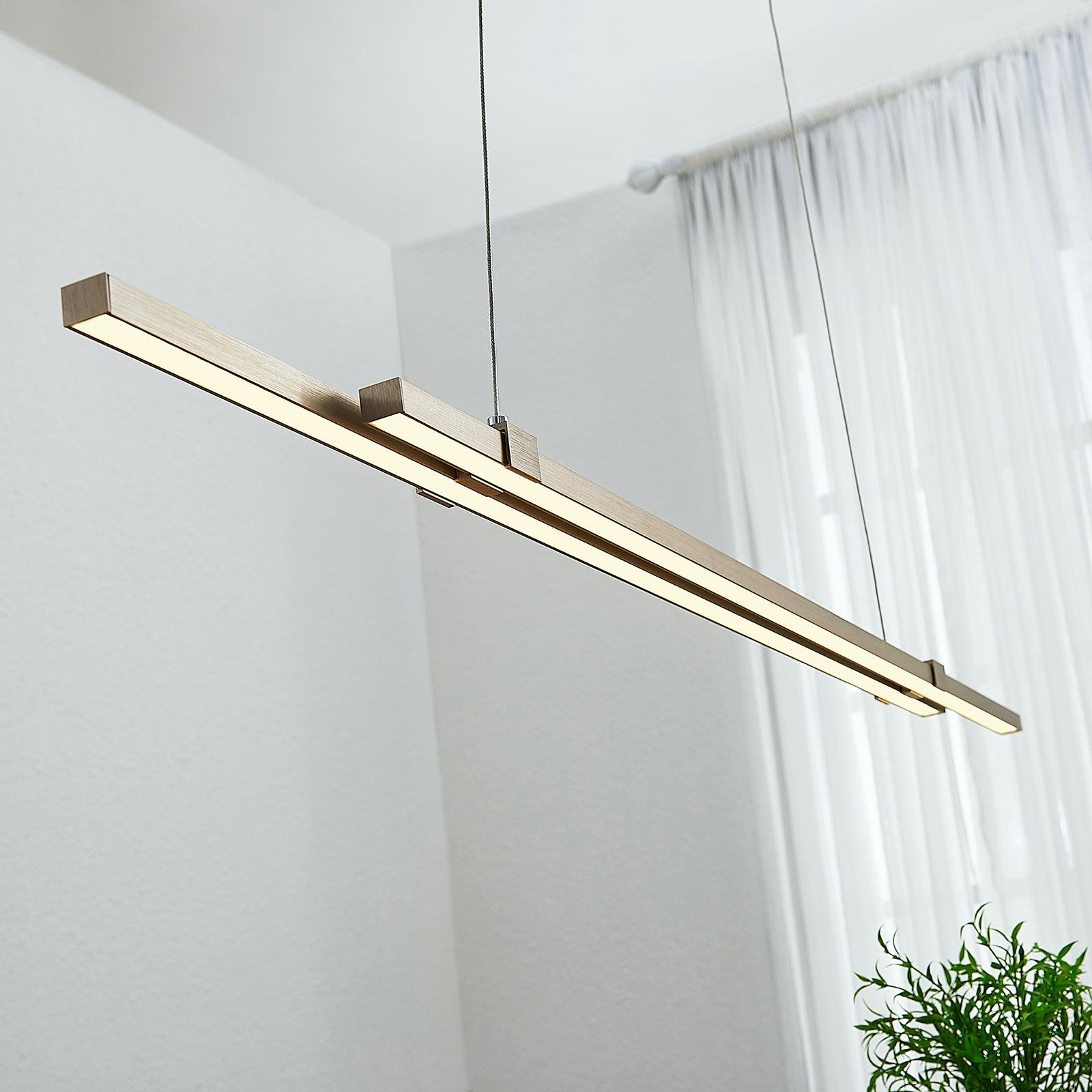 Lámpara colgante LED lineal Tymon, delgada