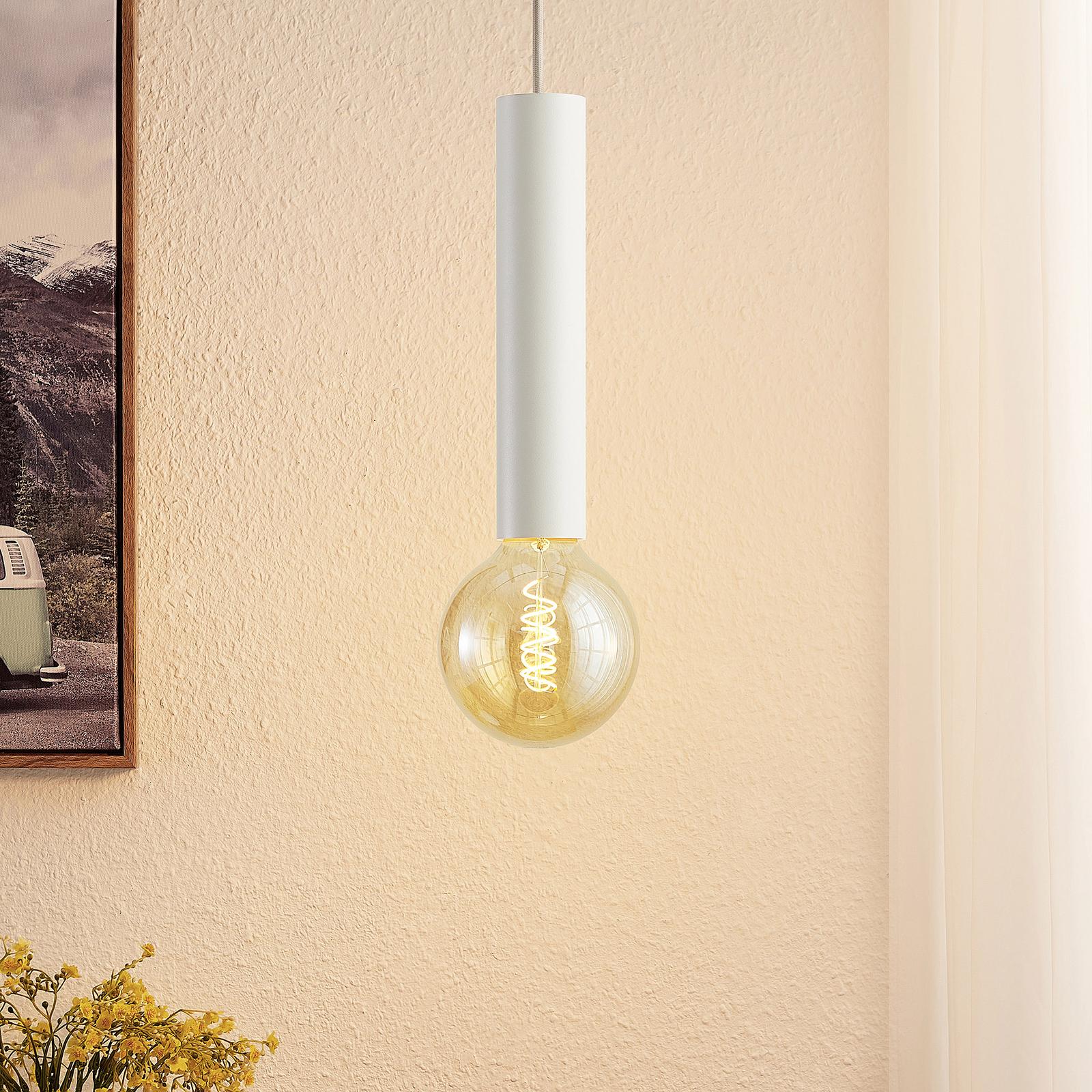 Arcchio Padilum lampa wisząca, 27 cm, biała