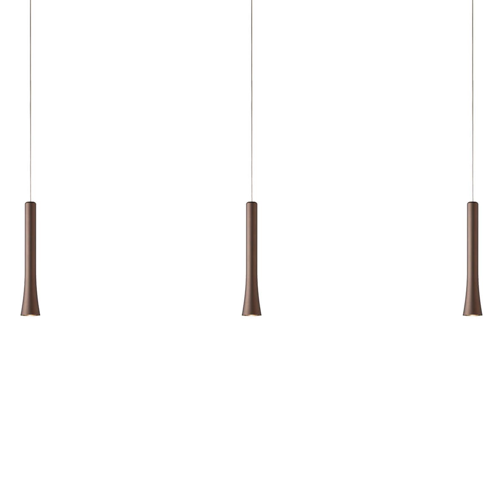 Ustawiana lampa wisząca LED Rio, brąz