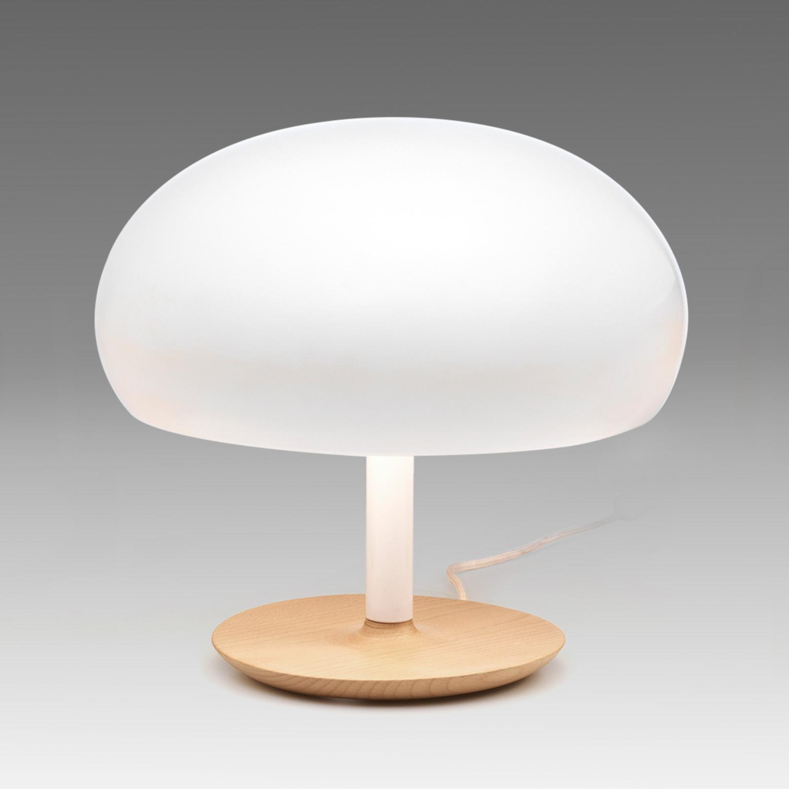Keramik-Tischleuchte Aspen in Pilzform, 35 cm